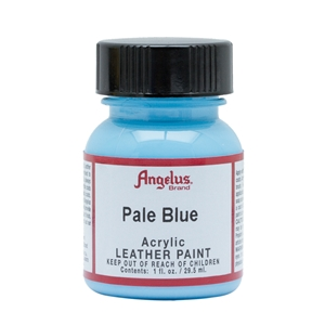 Angelus Acrylic Leather Paint 1 fl oz/30ml Bottle. Pale Blue 176
