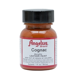 Angelus Acrylic Leather Paint 1 fl oz/30ml Bottle. Cognac 180