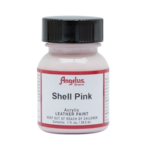 Angelus Acrylic Leather Paint 1 fl oz/30ml Bottle. Shell Pink 191