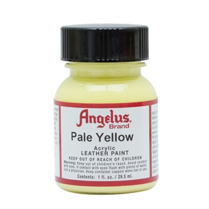 Angelus Acrylic Leather Paint 1 fl oz/30ml Bottle. Pale Yellow 197
