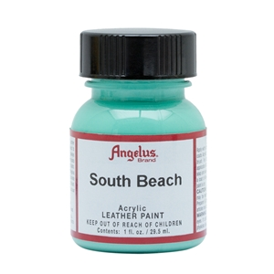 Angelus Acrylic Leather Paint 1 fl oz/30ml Bottle. South Beach 261