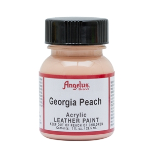 Angelus Acrylic Leather Paint 1 fl oz/30ml Bottle. Georgia Peach 266