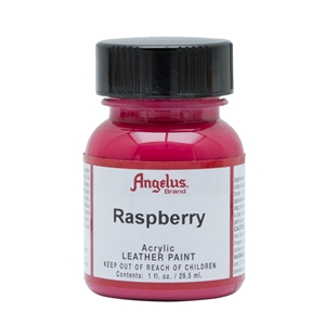 Angelus Acrylic Leather Paint 1 fl oz/30ml Bottle. Raspberry 268