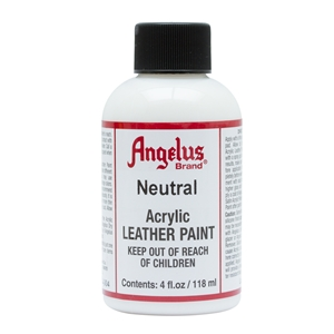 Angelus Acrylic Leather Paint 4 fl oz/118ml Bottle. Neutral 004