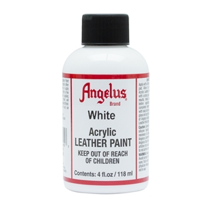 Angelus Acrylic Leather Paint 4 fl oz/118ml Bottle. White 005