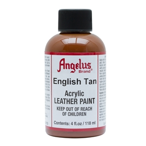 Angelus Acrylic Leather Paint 4 fl oz/118ml Bottle. English Tan 019