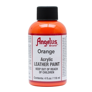 Angelus Acrylic Leather Paint 4 fl oz/118ml Bottle. Orange 024