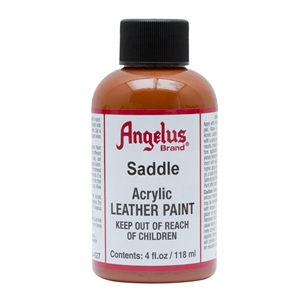 Angelus Acrylic Leather Paint 4 fl oz/118ml Bottle. Saddle 027