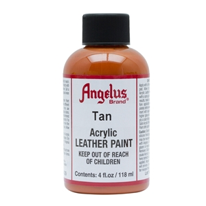 Angelus Acrylic Leather Paint 4 fl oz/118ml Bottle. Tan 029