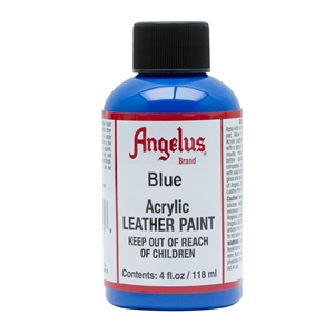 Angelus Acrylic Leather Paint 4 fl oz/118ml Bottle. Blue 040