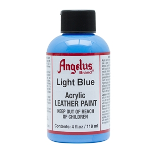 Angelus Acrylic Leather Paint 4 fl oz/118ml Bottle. Light Blue 041