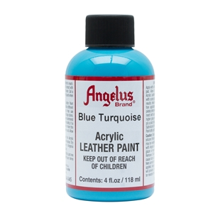 Angelus Acrylic Leather Paint 4 fl oz/118ml Bottle. Blue Turquoise 045