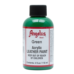 Angelus Acrylic Leather Paint 4 fl oz/118ml Bottle. Green 050