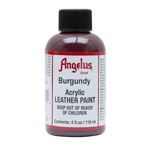 Angelus Acrylic Leather Paint 4 fl oz/118ml Bottle. Burgundy 060