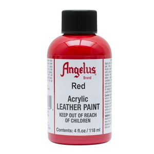 Angelus Acrylic Leather Paint 4 fl oz/118ml Bottle. Red 064