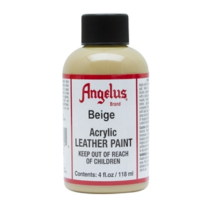 Angelus Acrylic Leather Paint 4 fl oz/118ml Bottle. Beige 070