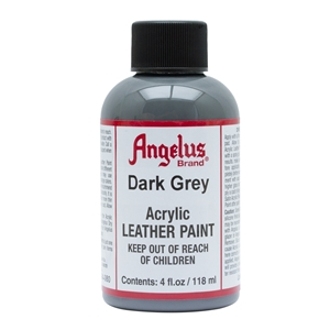 Angelus Acrylic Leather Paint 4 fl oz/118ml Bottle. Dark Grey 080