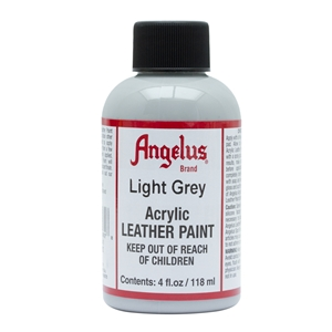 Angelus Acrylic Leather Paint 4 fl oz/118ml Bottle. Light Grey 082