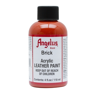 Angelus Acrylic Leather Paint 4 fl oz/118ml Bottle. Brick 093