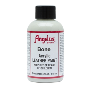 Angelus Acrylic Leather Paint 4 fl oz/118ml Bottle. Bone 155