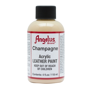 Angelus Acrylic Leather Paint 4 fl oz/118ml Bottle. Champagne 156