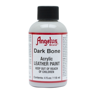 Angelus Acrylic Leather Paint 4 fl oz/118ml Bottle. Dark Bone 157
