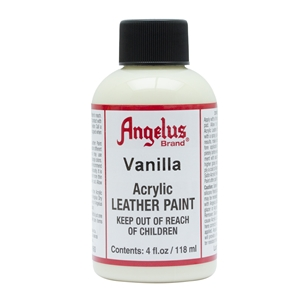 Angelus Acrylic Leather Paint 4 fl oz/118ml Bottle. Vanilla 160