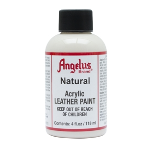 Angelus Acrylic Leather Paint 4 fl oz/118ml Bottle. Natural 161