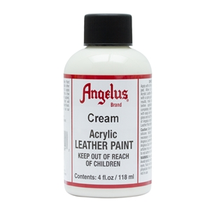 Angelus Acrylic Leather Paint 4 fl oz/118ml Bottle. Cream 162