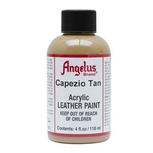 Angelus Acrylic Leather Paint 4 fl oz/118ml Bottle. Capezio Tan 163