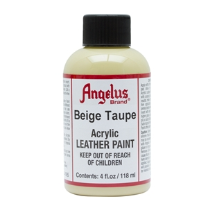 Angelus Acrylic Leather Paint 4 fl oz/118ml Bottle. Beige Taupe 165