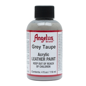 Angelus Acrylic Leather Paint 4 fl oz/118ml Bottle. Grey Taupe 166