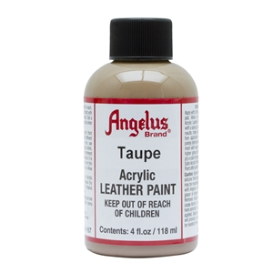 Angelus Acrylic Leather Paint 4 fl oz/118ml Bottle. Taupe 167