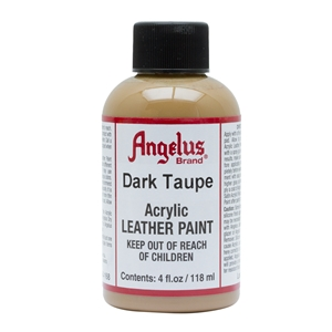 Angelus Acrylic Leather Paint 4 fl oz/118ml Bottle. Dark Taupe 168
