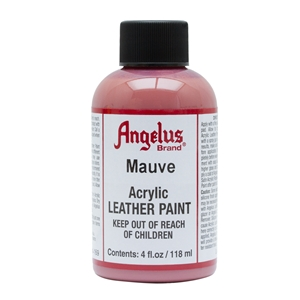 Angelus Acrylic Leather Paint 4 fl oz/118ml Bottle. Mauve 169