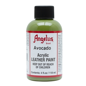 Angelus Acrylic Leather Paint 4 fl oz/118ml Bottle. Avocado 170