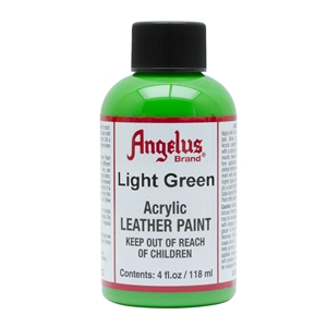 Angelus Acrylic Leather Paint 4 fl oz/118ml Bottle. Light Green 172
