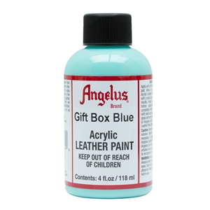 Angelus Acrylic Leather Paint 4 fl oz/118ml Bottle. Gift Box Blue 174
