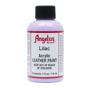 Angelus Acrylic Leather Paint 4 fl oz/118ml Bottle. Lilac 175