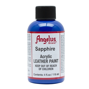 Angelus Acrylic Leather Paint 4 fl oz/118ml Bottle. Sapphire 177