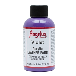 Angelus Acrylic Leather Paint 4 fl oz/118ml Bottle. Violet 178
