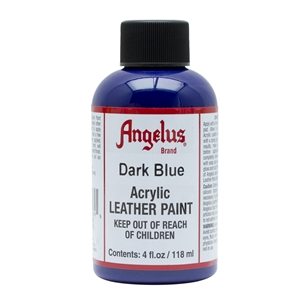 Angelus Acrylic Leather Paint 4 fl oz/118ml Bottle. Dark Blue 179