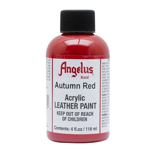 Angelus Acrylic Leather Paint 4 fl oz/118ml Bottle. Autumn Red 184