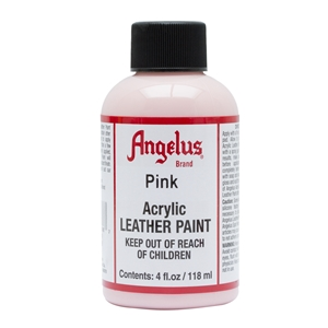 Angelus Acrylic Leather Paint 4 fl oz/118ml Bottle. Pink 188