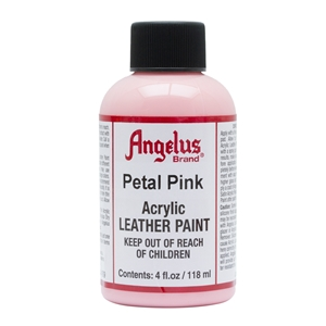 Angelus Acrylic Leather Paint 4 fl oz/118ml Bottle. Petal Pink 189