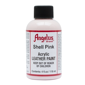 Angelus Acrylic Leather Paint 4 fl oz/118ml Bottle. Shell Pink 191