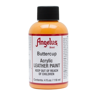 Angelus Acrylic Leather Paint 4 fl oz/118ml Bottle. Buttercup 198