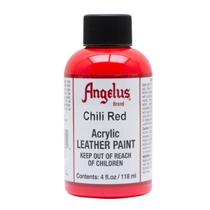 Angelus Acrylic Leather Paint 4 fl oz/118ml Bottle. Chili Red 260