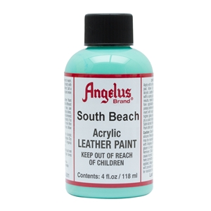 Angelus Acrylic Leather Paint 4 fl oz/118ml Bottle. South Beach 261