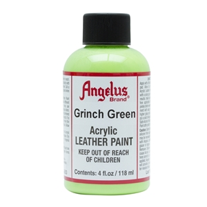 Angelus Acrylic Leather Paint 4 fl oz/118ml Bottle. Grinch Green 263